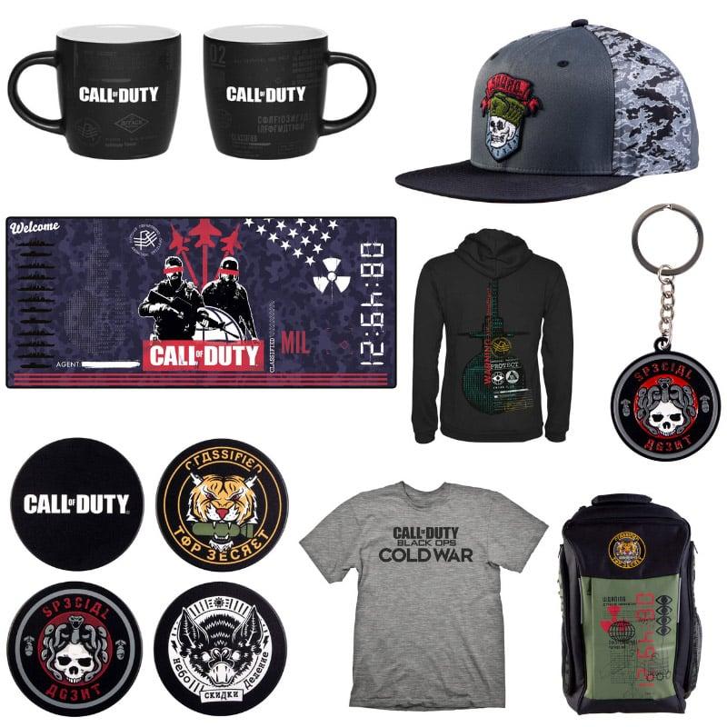 Call of Duty: Black Ops Cold War – diverse Merch-Artikel