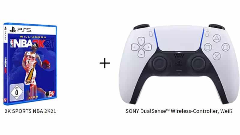 NBA 2K21 (Playstation 5) + SONY DualSense Wireless-Controller für 99,99€