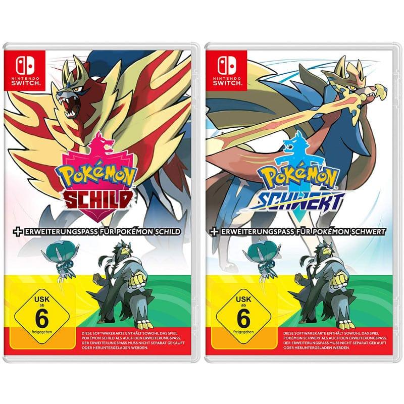 """""""Pokémon Schild"""" und """"Pokémon Schwert"""" ab 06. November jeweils inkl. Erweiterungspass"""