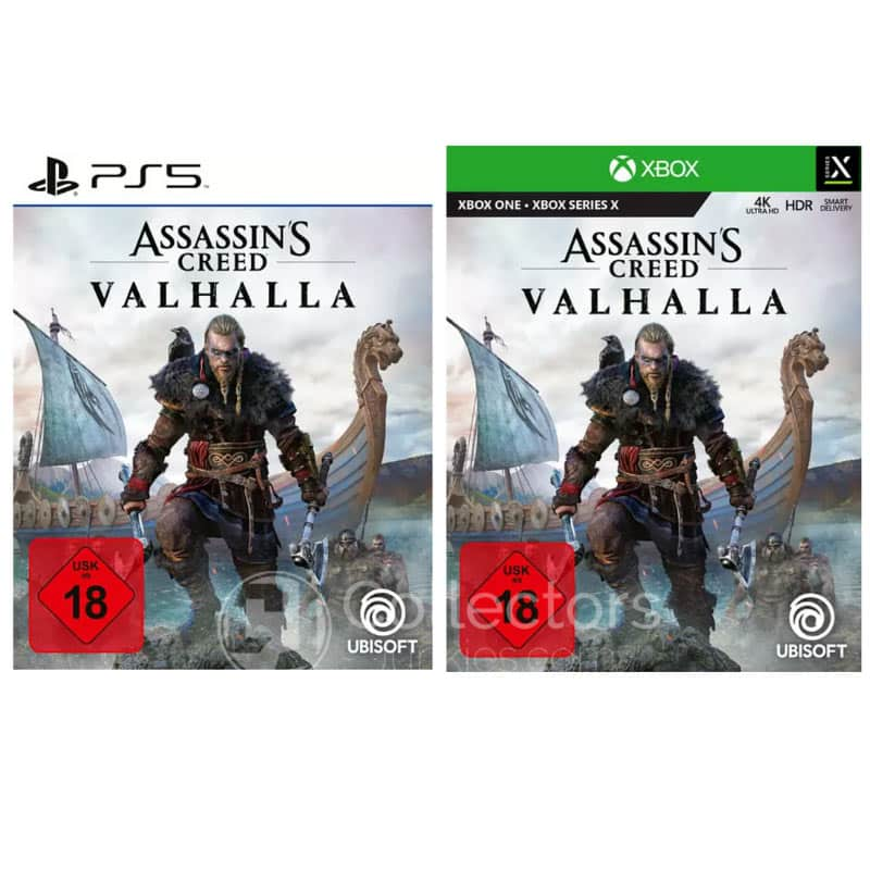 Assassin's Creed Valhalla – Standard Variante (Playstation 5/4, Xbox One/ Series X) für je 39,95€