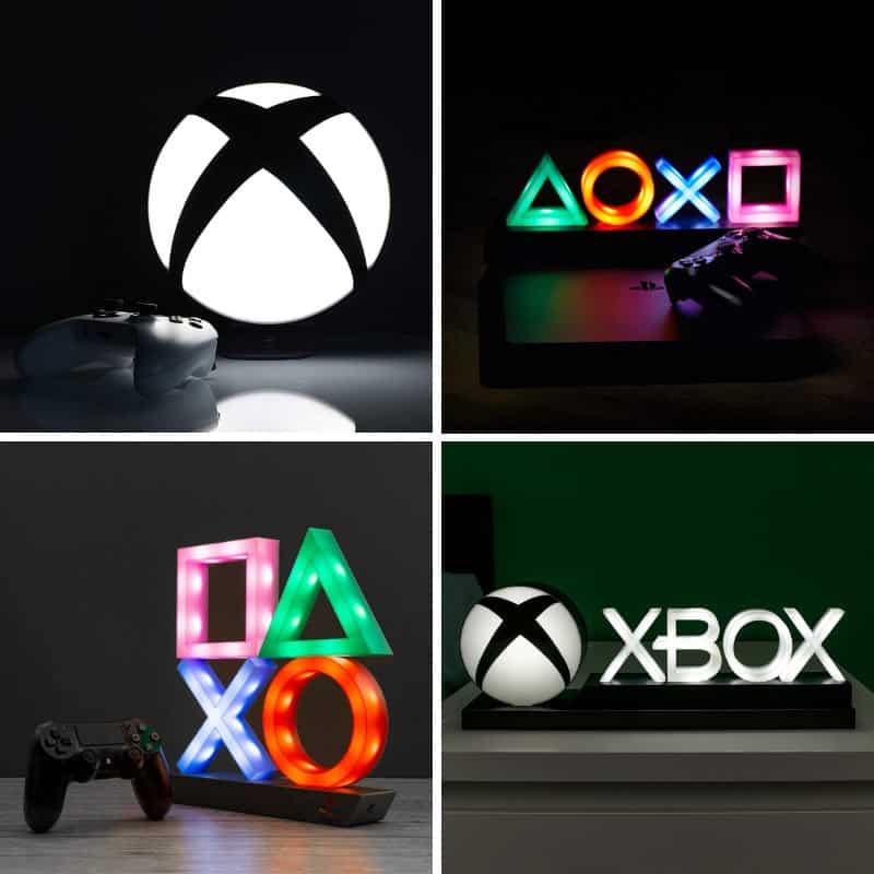 Playstation und Xbox Logo Lampen