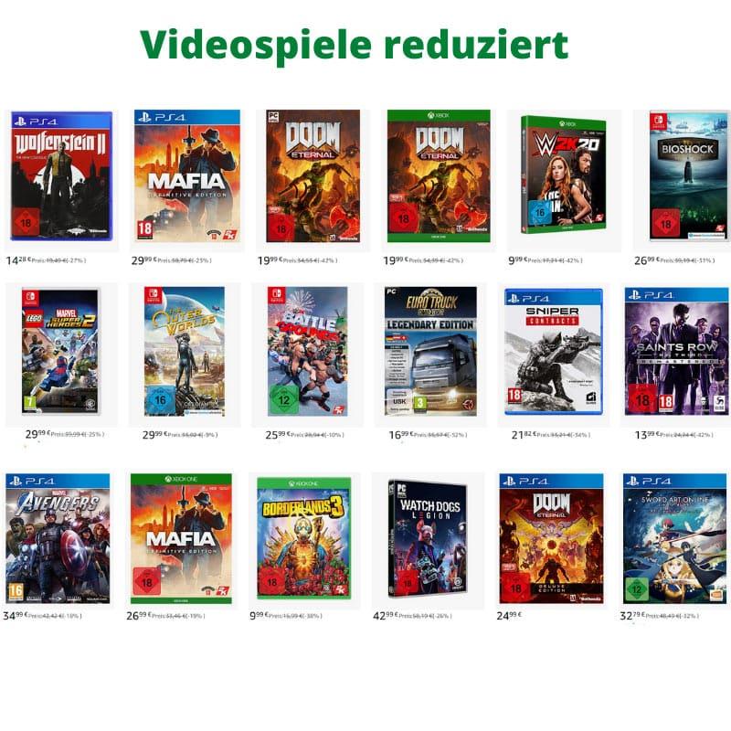 [Tagesangebot] Videospiele reduziert (Playstation 4, Xbox One, Nintendo Switch und PC)