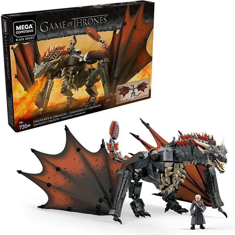 Mega Construx GKG97 – Game of Thrones Daenerys und Drogon Bauset für 39,99€