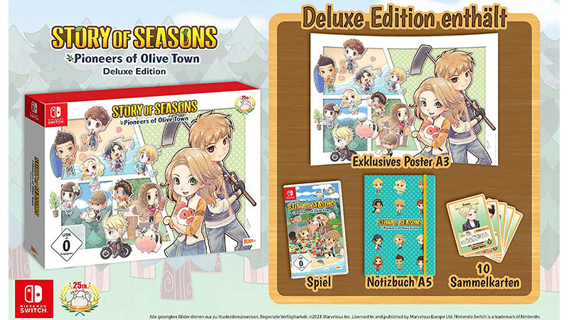 """""""Story of Seasons: Pioneers of Olive Town"""" ab März 2021 als Deluxe Edition (Nintendo Switch)"""