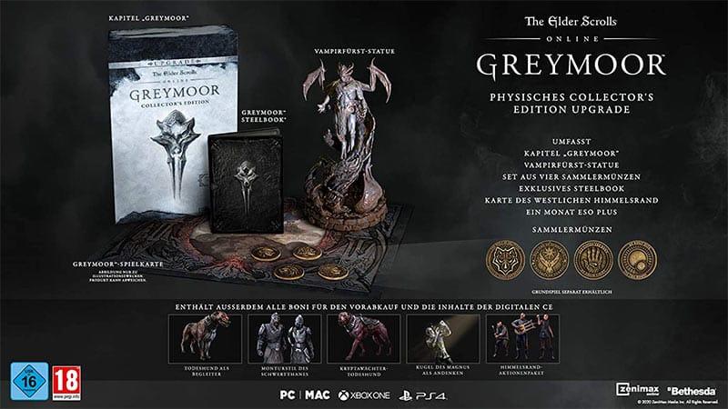 The Elder Scrolls Online: Greymoor – Collectors Edition (PC) für 69,99€