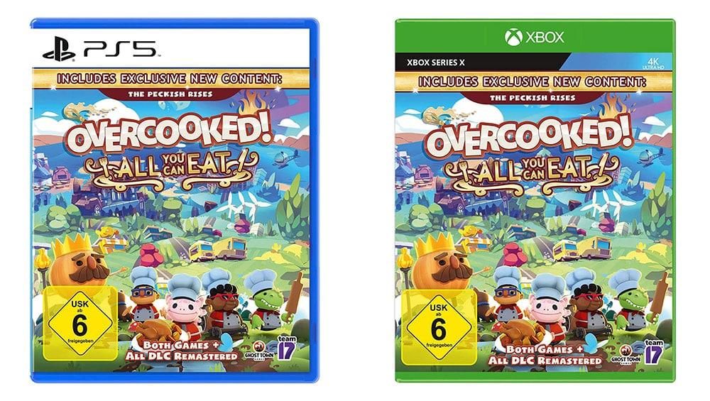 Overcooked All You Can Eat für die Playstation 5 und für Xbox Series X für je 22,99€