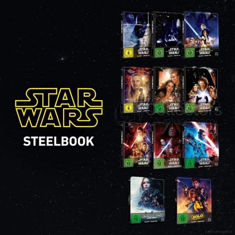 "Star Wars Episode I-IX, ""Rogue One"" sowie ""Solo"" ab 2021 jeweils im Blu-ray Steelbook"