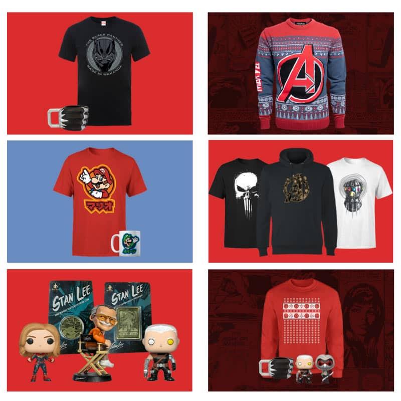Diverse Merch-Bundle bei Zavvi reduziert – unter anderem: Black Panther Tee & Mug Bundle für 14,99€   Nintendo Bundle (Tasse + Shirt) für 9,99€