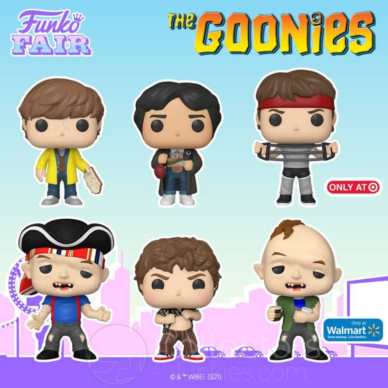 "4 ""The Goonies"" Funko Pop Figuren"
