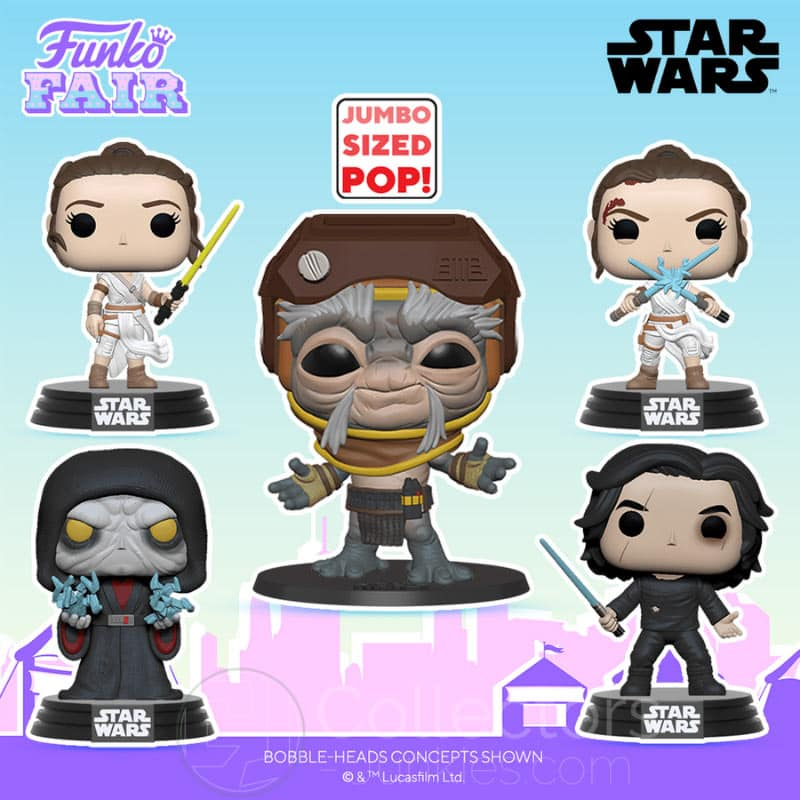 "5 ""Star Wars – Episode 9"" Funko Pop Wackelkopf Figuren"