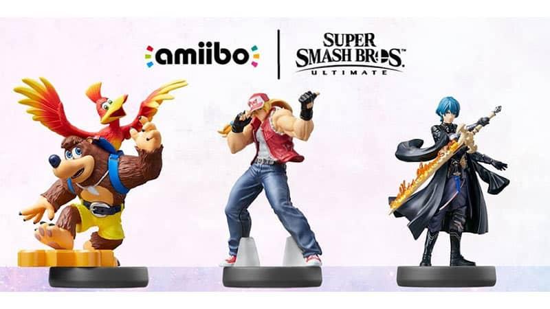 Banjo & Kazooie, Terry Bogard & Byleth amiibo Figuren (Smash Bros. Collection)