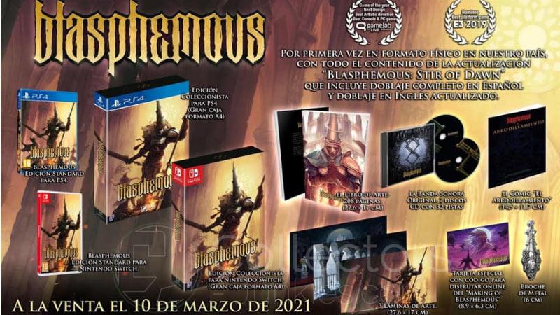 """""""Blasphemous"""" ab März 2021 in einer Collectors Edition für die Playstation 4 und Nintendo Switch (Spanien)"""