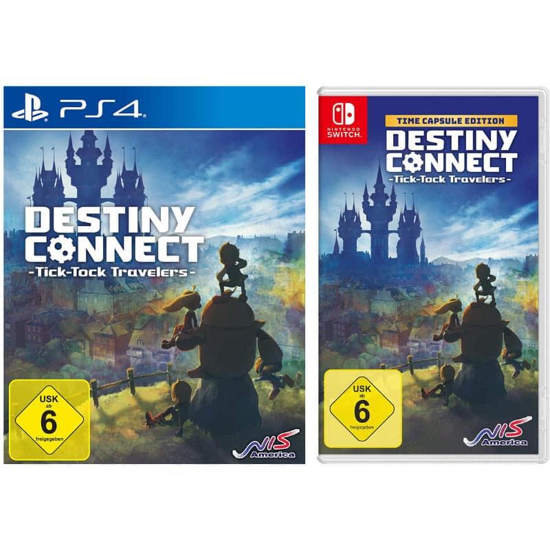 Destiny Connect: Tick-Tock Travelers – Time Capsule Edition Nintendo Switch und Playstation 4 Standard Variante für je 8,99€