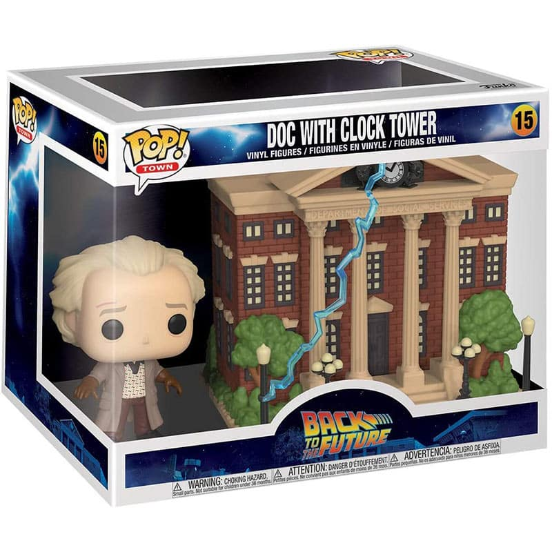 Funko POP! Town: Back to The Future – Doc with Clock Tower für 36,10€