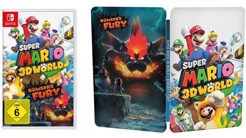 Super Mario 3D World + Bowser's Fury (Nintendo Switch) | Steelbook