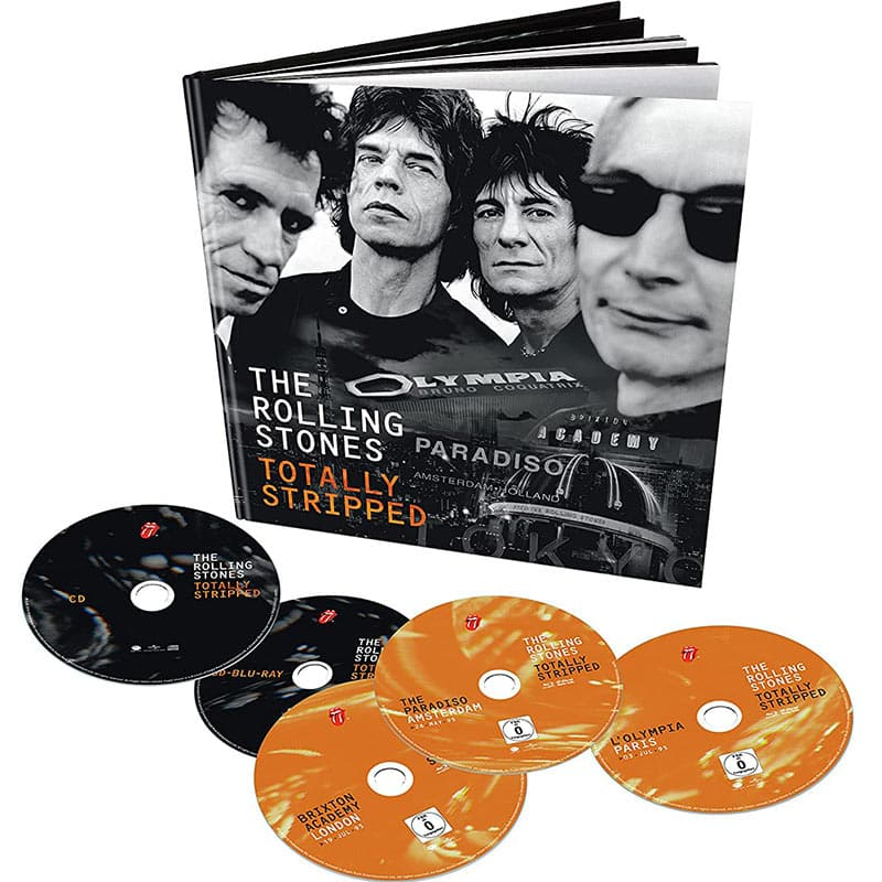 The Rolling Stones – Totally Stripped im Hardcoverbook  (4 Blu-rays + CD) für 34,99€