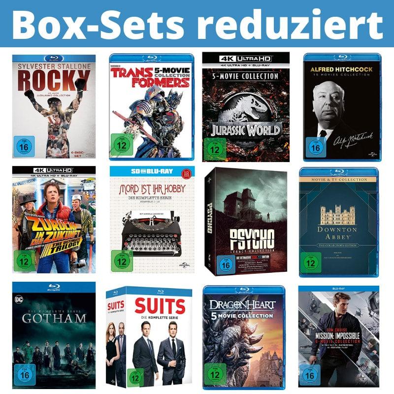 Box-Sets reduziert bei Amazon(4K UHD, Blu-ray und DVD) – unter anderem: Zurück in die Zukunft – Trilogie (4K Ultra HD) für 40,97€