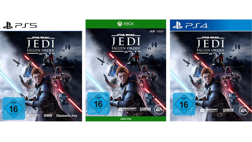 Star Wars Jedi: Fallen Order für die Playstation 5/4 und Xbox One für je 24,99€