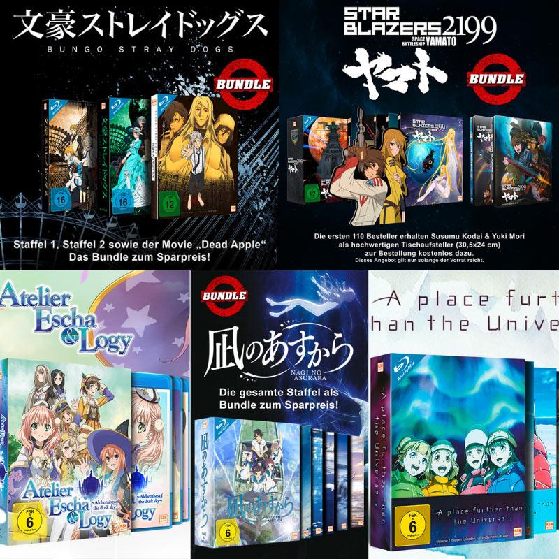 5 KSM Anime Serien in der Gesamtedition/ Bundle ab sofort auf Blu-ray und DVD
