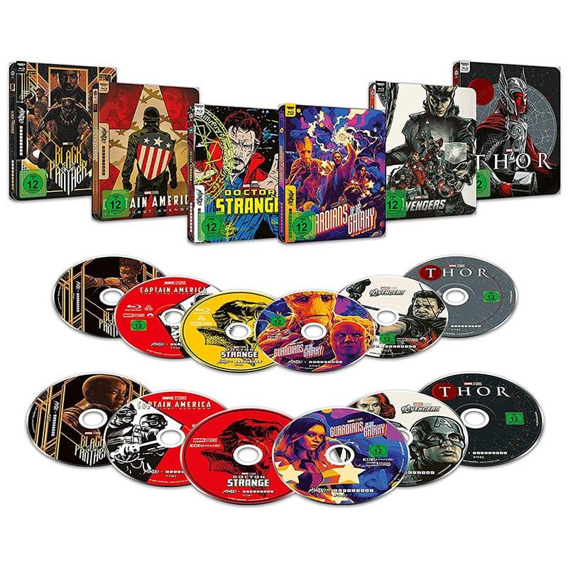 Marvel Filme im 4K Steelbook (Mondo Design) für je 29,99€