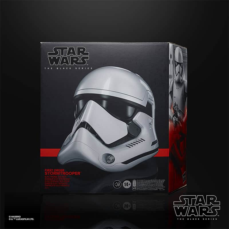 Star Wars The Black Series: First Order Stormtrooper Electronic Helmet (Hasbro)