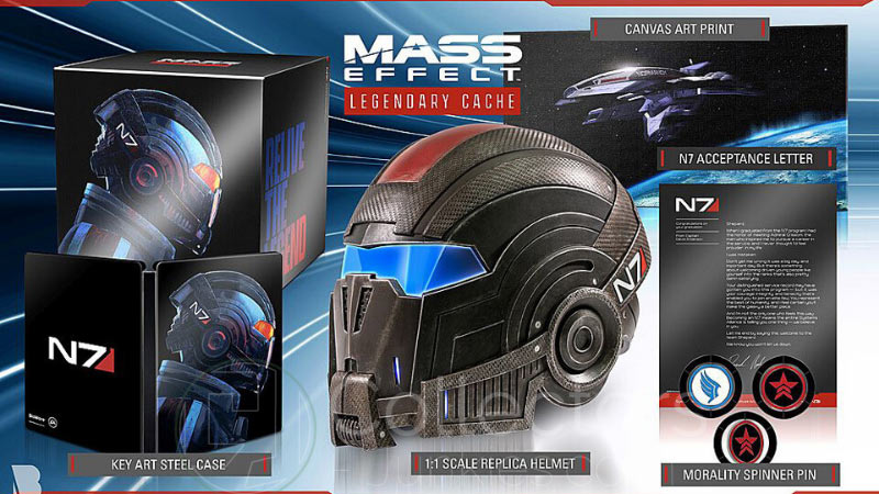 """Mass Effect Legendary Cache"" Collectors Edition Set (Ohne Spiel) (USA)"