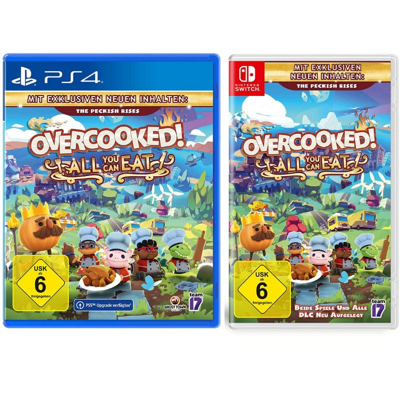 """Overcooked All You Can Eat"" ab März 2021 für die Nintendo Switch und Playstation 4"