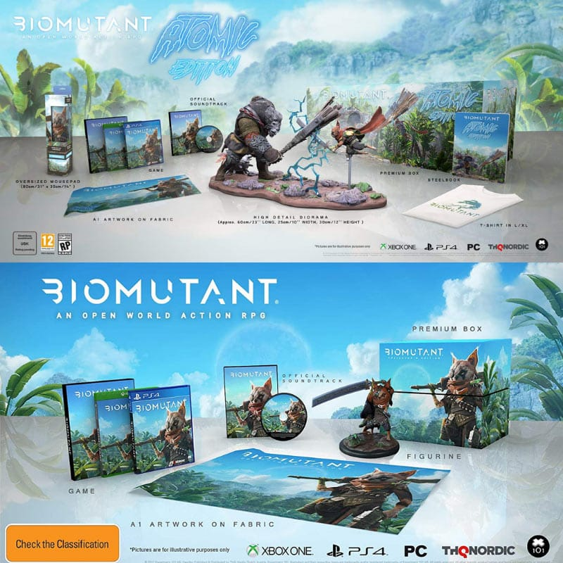"""Biomutant"" Collectors Edition, Atomic Edition und weitere Varianten ab Mai 2021 (Playstation 4, Xbox One, PC)"