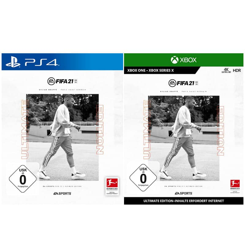 FIFA 21 – Ultimate Edition (Playstation 4 und Xbox One) für je 37,99€
