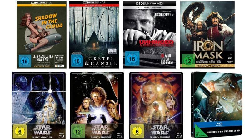 15% Rabatt auf Filme, Spielwaren, Hörbücher und Hörbuch-Downloads bei Thalia – unter anderem: Star Wars Steelbooks für je 12,57€