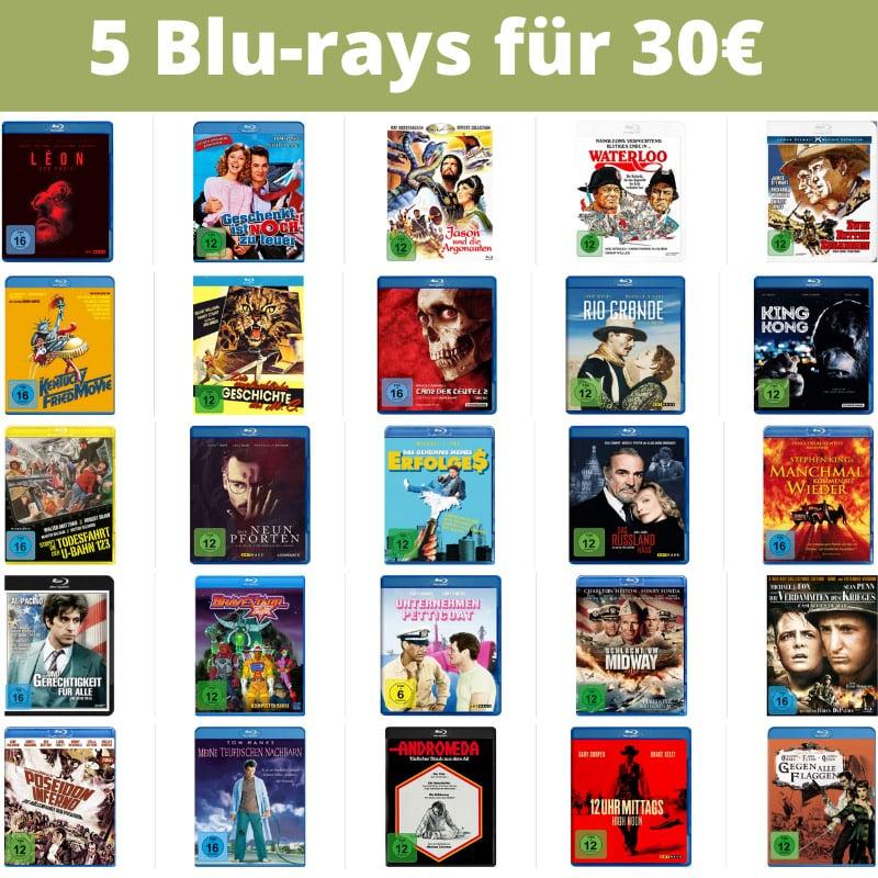 5 Blu-rays für 30€ – Auswahl aus über 370 Titeln