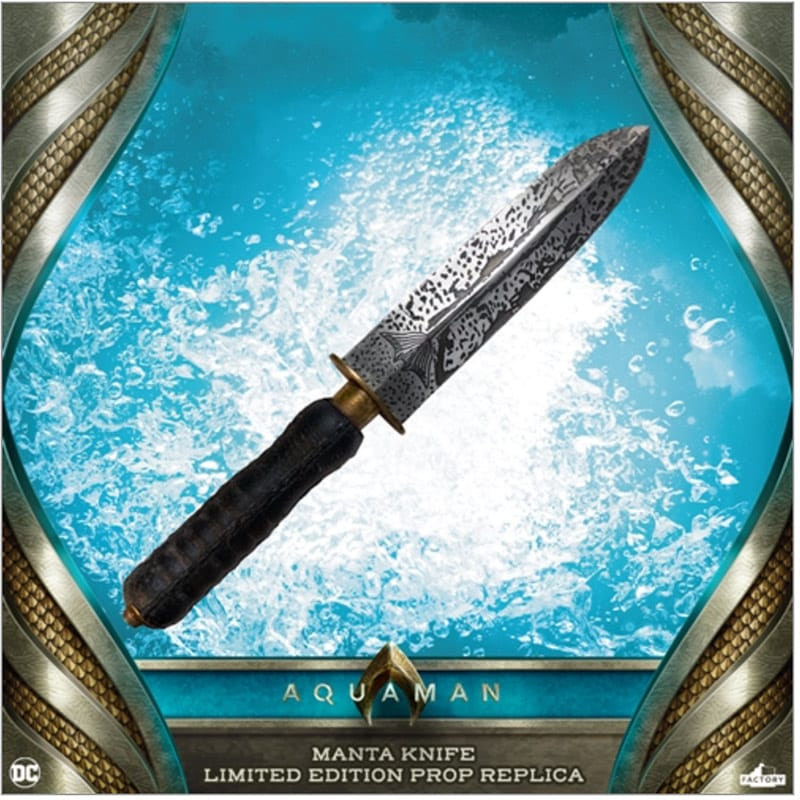 Aquaman: Mantas Messer als 1/1 Replik von Factory Entertainment