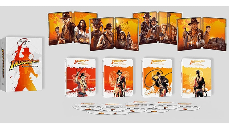 """Indiana Jones"" 4K Steelbook Set und 4K UHD Digipak 
