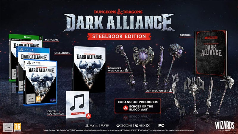 """Dungeons & Dragons Dark Alliance"" ab Juni 2021 inkl. Steelbook und als Day One Edition (PS5/4, Xbox Series X/S/One, PC)"