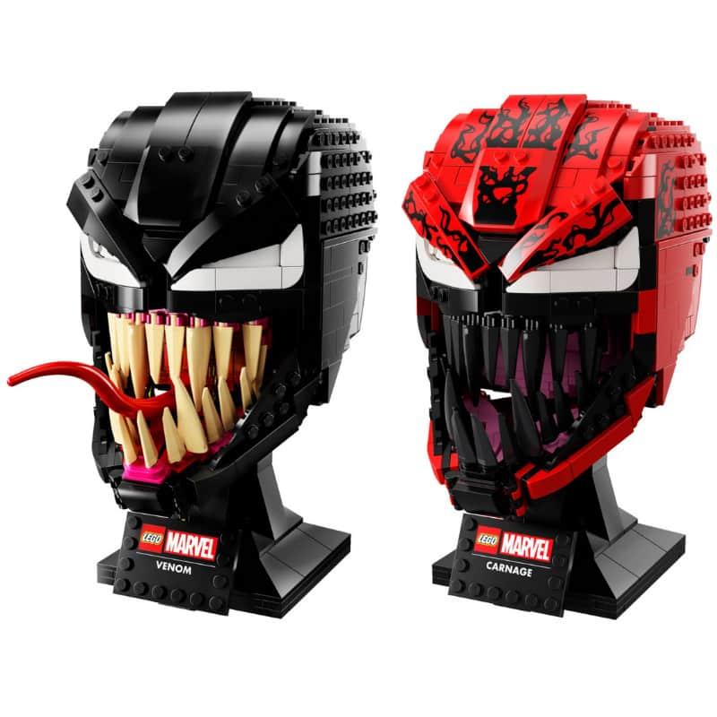 """Marvel Spider-Man """"Carnage"""" und """"Venom"""" (LEGO Helmet Collection)"""