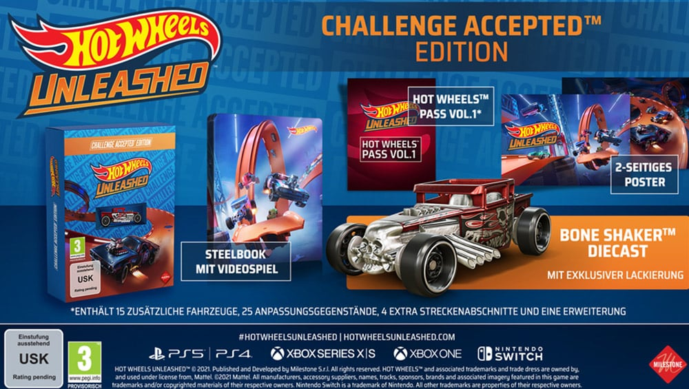 """""""Hot Wheels Unleashed"""" Challenge Accepted Edition inkl. Steelbook und Day One Edition ab September 2021 – Update"""