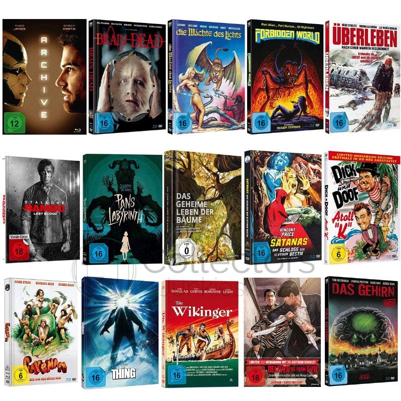 Blu-ray Mediabook Editionen reduziert ab jeweils 11,97€