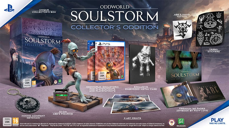 """Oddworld Soulstorm"" Collectors Edition und Steelbook Edition  | ab Juli 2021"