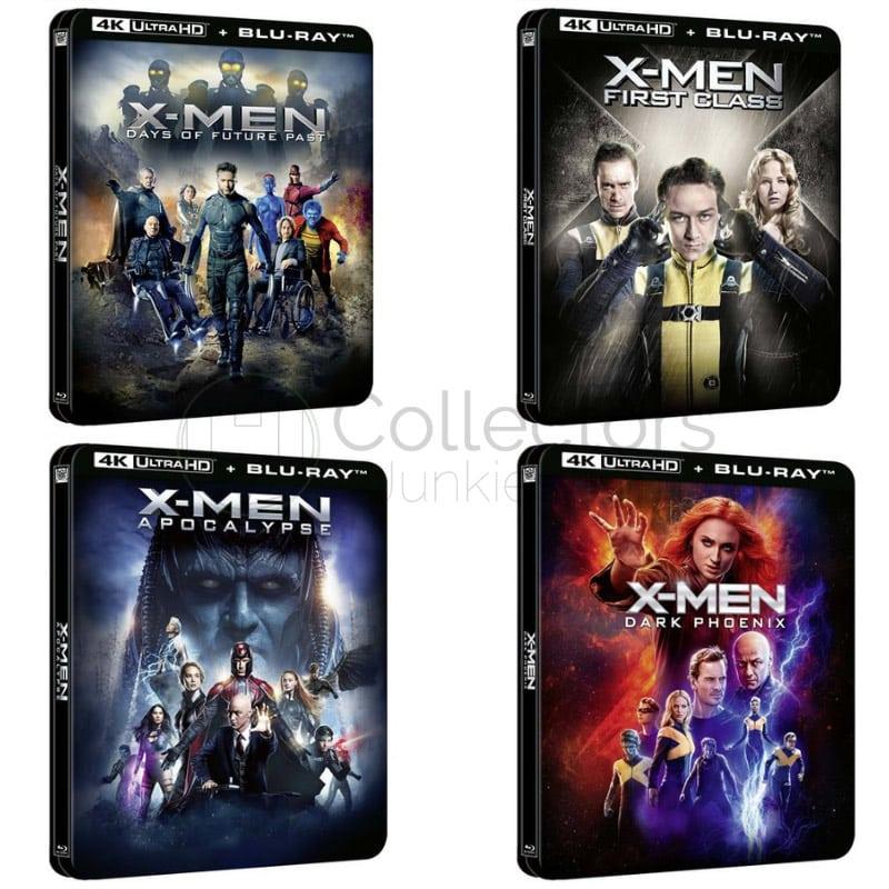 """X-Men: """"Erste Entscheidung"""", """"Zukunft ist Vergangenheit"""" """"Apocalypse"""" und """"Dark Phoenix"""" ab Juni 2021 jeweils im 4K Steelbook (Frankreich)"""