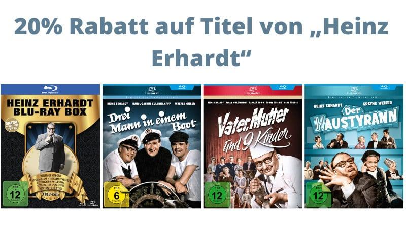 """20% Rabatt auf Titel von """"Heinz Erhardt"""" im Fernsehjuwelen Shop"""