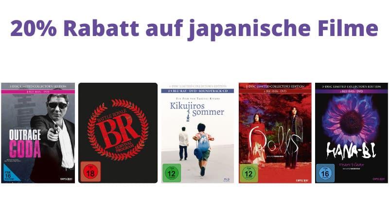 """20% Rabatt auf ausgewählte Titel aus dem Genre """"japanische Filme"""" bei Capelight"""