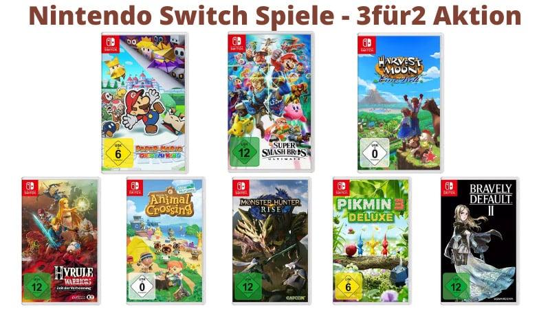 3 für 2 Aktion für ausgesuchte Nintendo Switch Spiele bei MediaMarkt & Saturn
