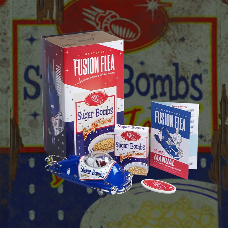 Sugar Bombs Breakfast Cereal Flea Merchandise Set inkl. Fusion Flea Die-Cast Modell (England)