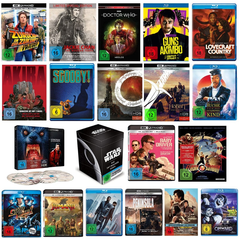 15% Rabatt auf diverse Filme (4K UHD, Blu-ray und DVD)