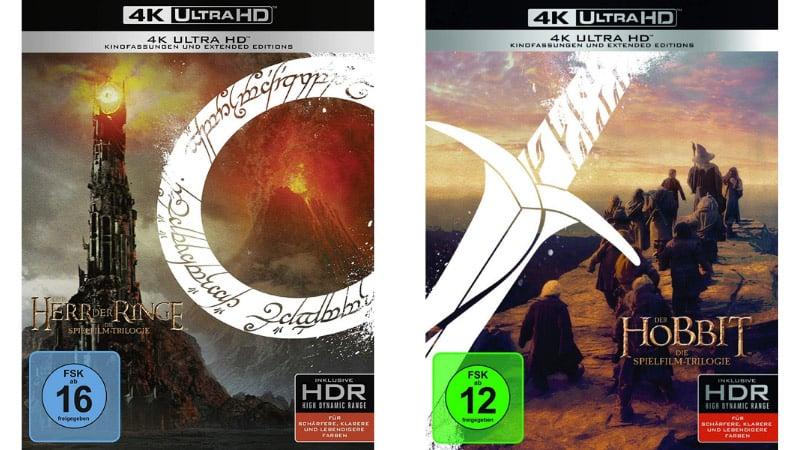"""""""Herr der Ringe Trilogie"""" 4K UHD für 37,09€ und die """"Hobbit Trilogie"""" 4K UHD für 36,39€"""