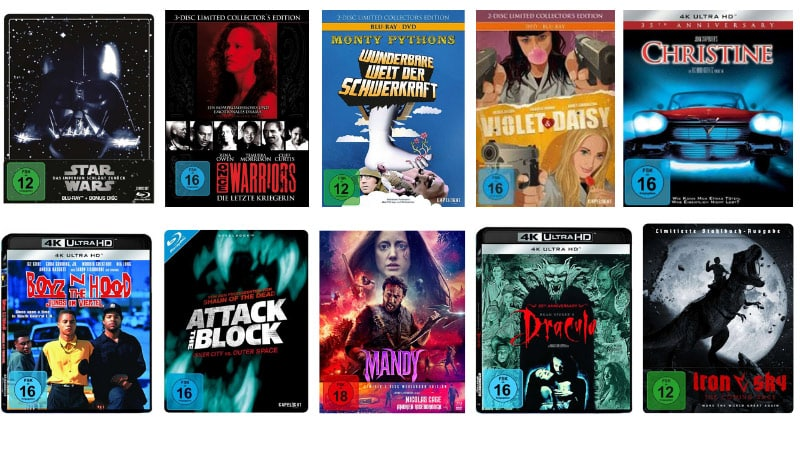 Versandkostenfrei bestellen bei JPC – unter anderem mit Steelbooks für je 6,99€ oder 3 Blu-rays für 18€