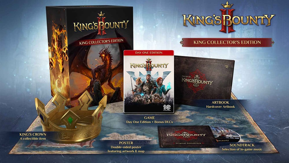 """""""King's Bounty II"""" in der Collectors Edition & Day One Edition für PS4, Xbox One/ Series X, PC, Nintendo Switch   ab August 2021 (Update)"""