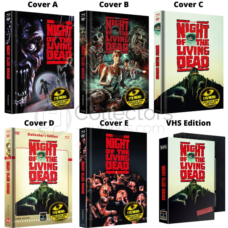 """Night of the Living Dead"" erscheint in 5 Blu-ray Mediabooks und einer VHS Edition"