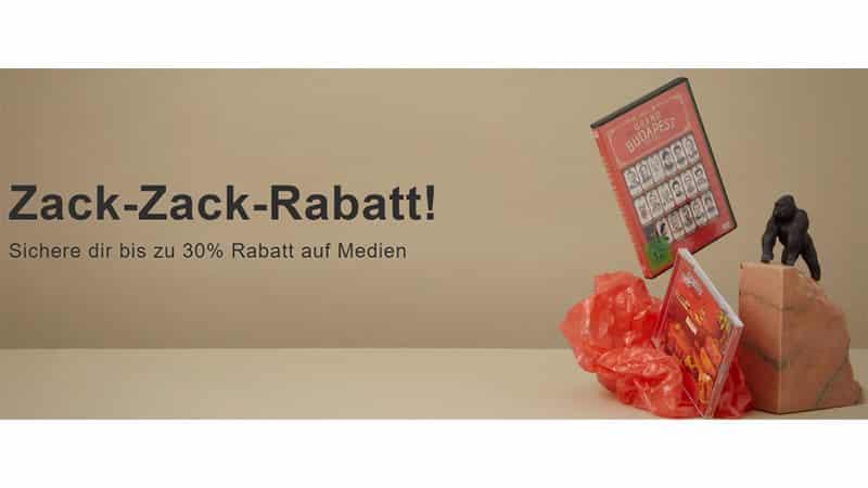 """""""Zack-Zack-Rabatt!"""" bei Rebuy mit bis zu 30% Rabatt ab 25€ Bestellwert"""