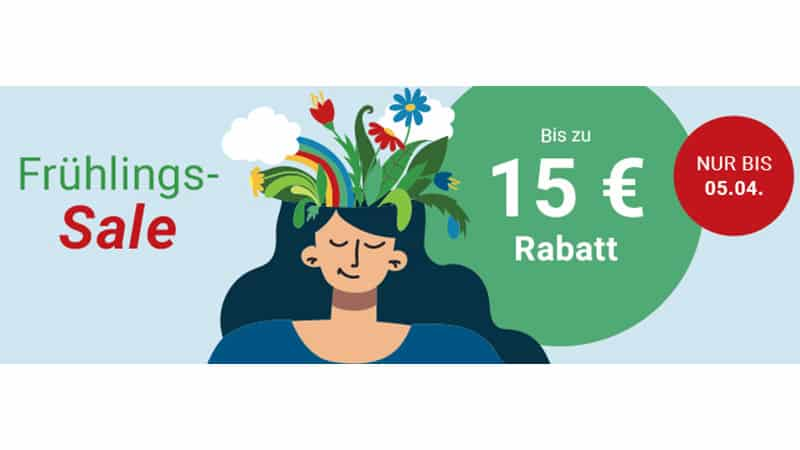 Frühlings-Sale: Bis zu 15€ Rabatt auf alles bei Medimops